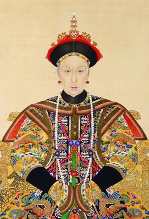 Official portrait of Empress Xiao Qin Xian  Yehenara, Empress Dowager Cixi 慈禧太后. Get this old bitch off the board