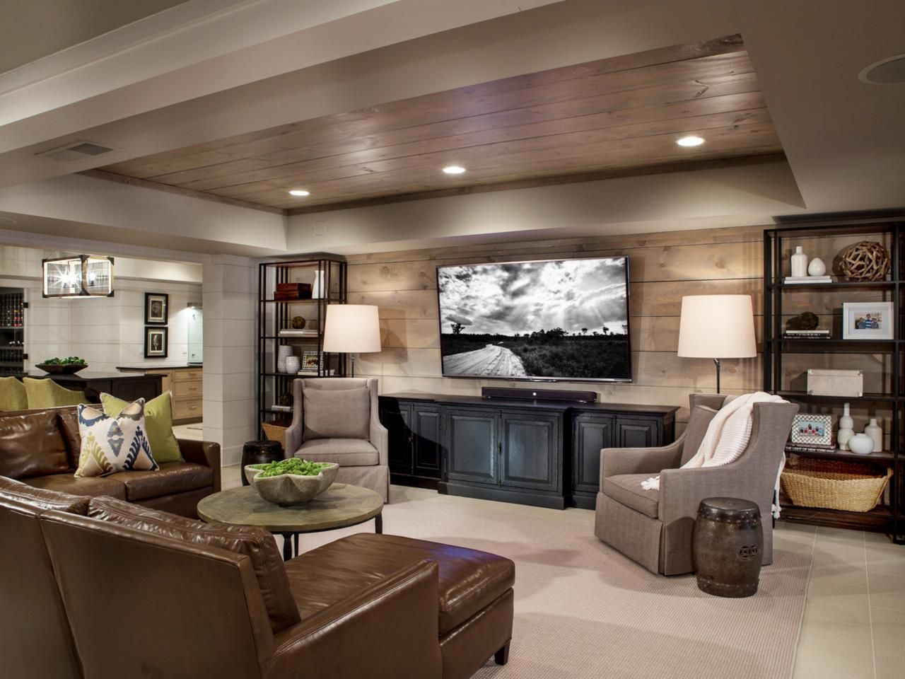 HGTV Shares The Amazing Transformation Of An Unfinished Basement Into A