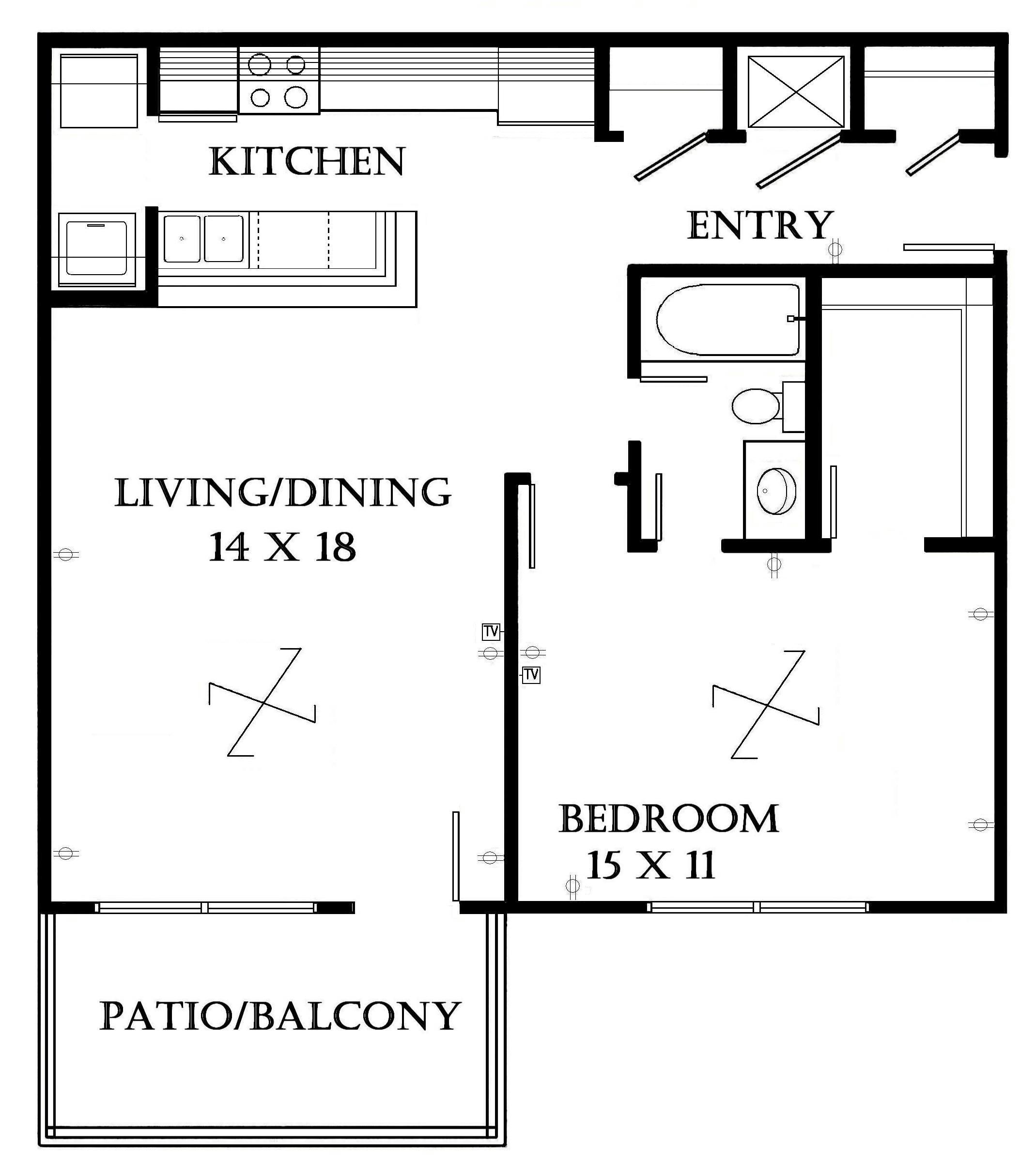 Pictures minimalis studio apartment floor plans furniture for Apartment plans south africa