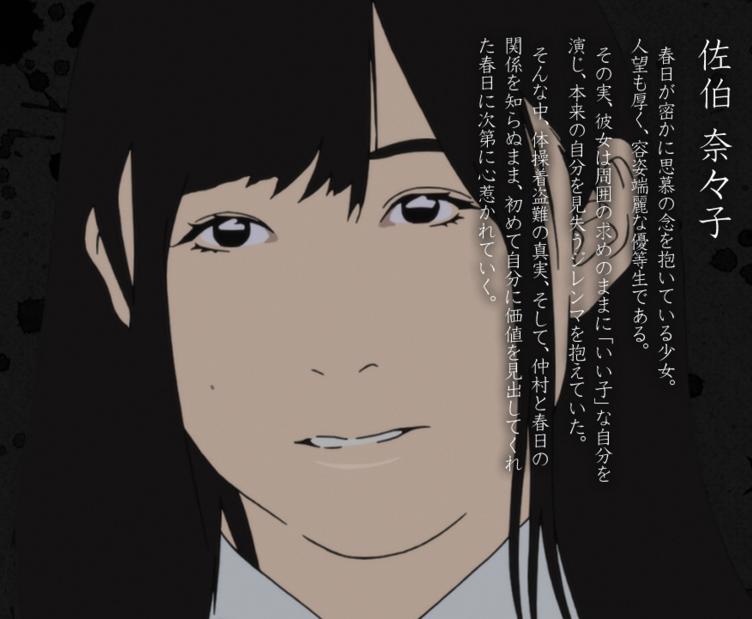 Saeki Nanako,Another girl from Kasuga's class, on whom he