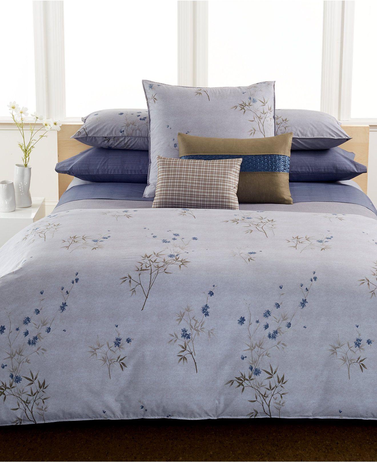 Calvin Klein Bamboo Flowers Full/Queen Comforter | Edredones de cama ...