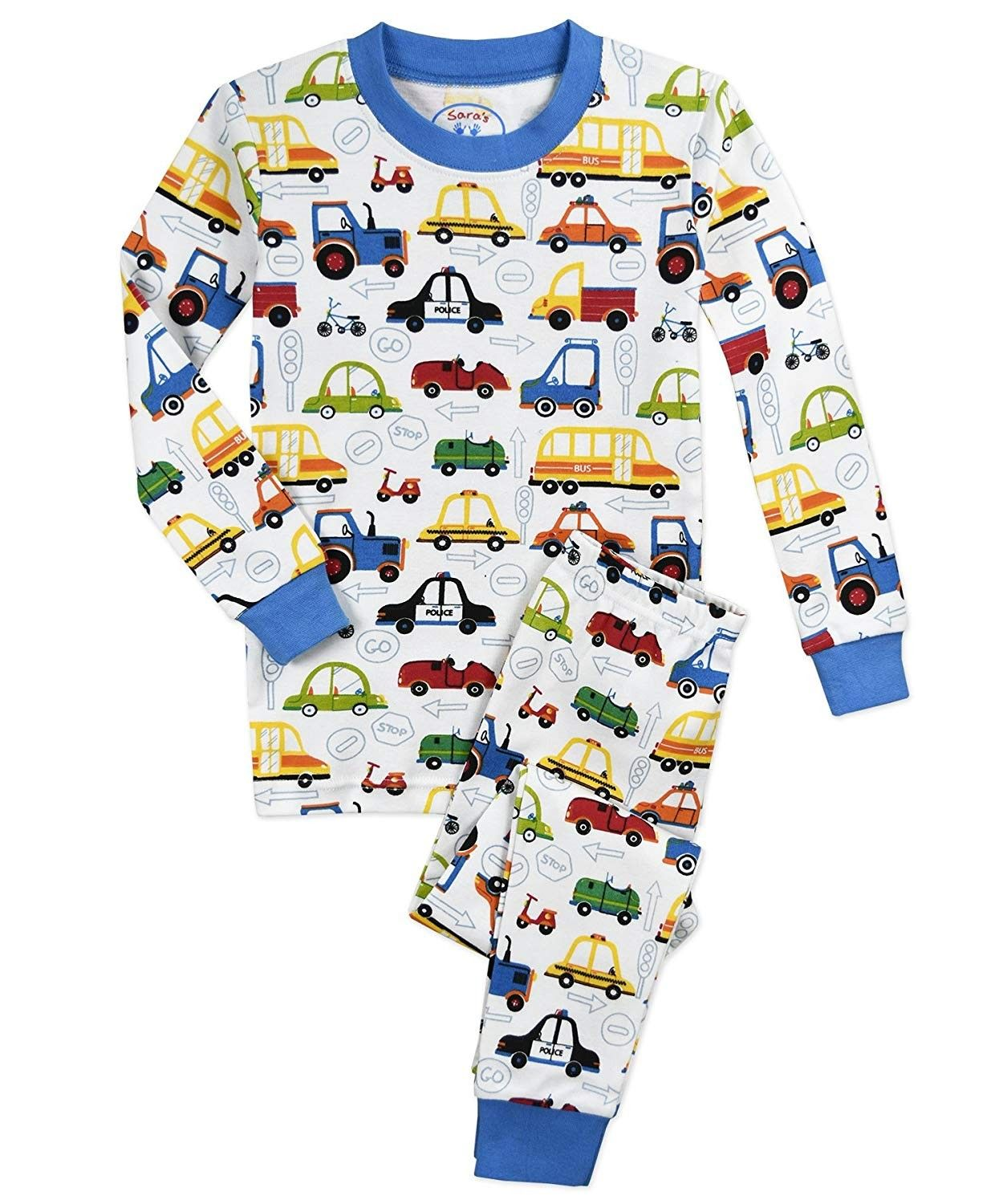 Baby Boys Cotton Clothing Kid Cars Long Sleeve Outfit+Pants Pajama Set Sleepwear