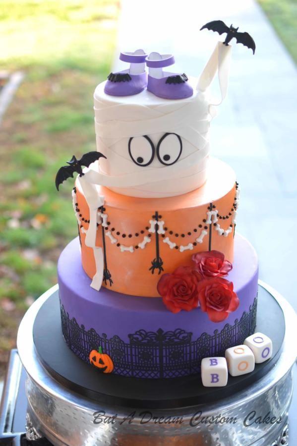 Halloween Baby Shower by Elisabeth Palatiello Ideas cakes - decorating halloween cakes