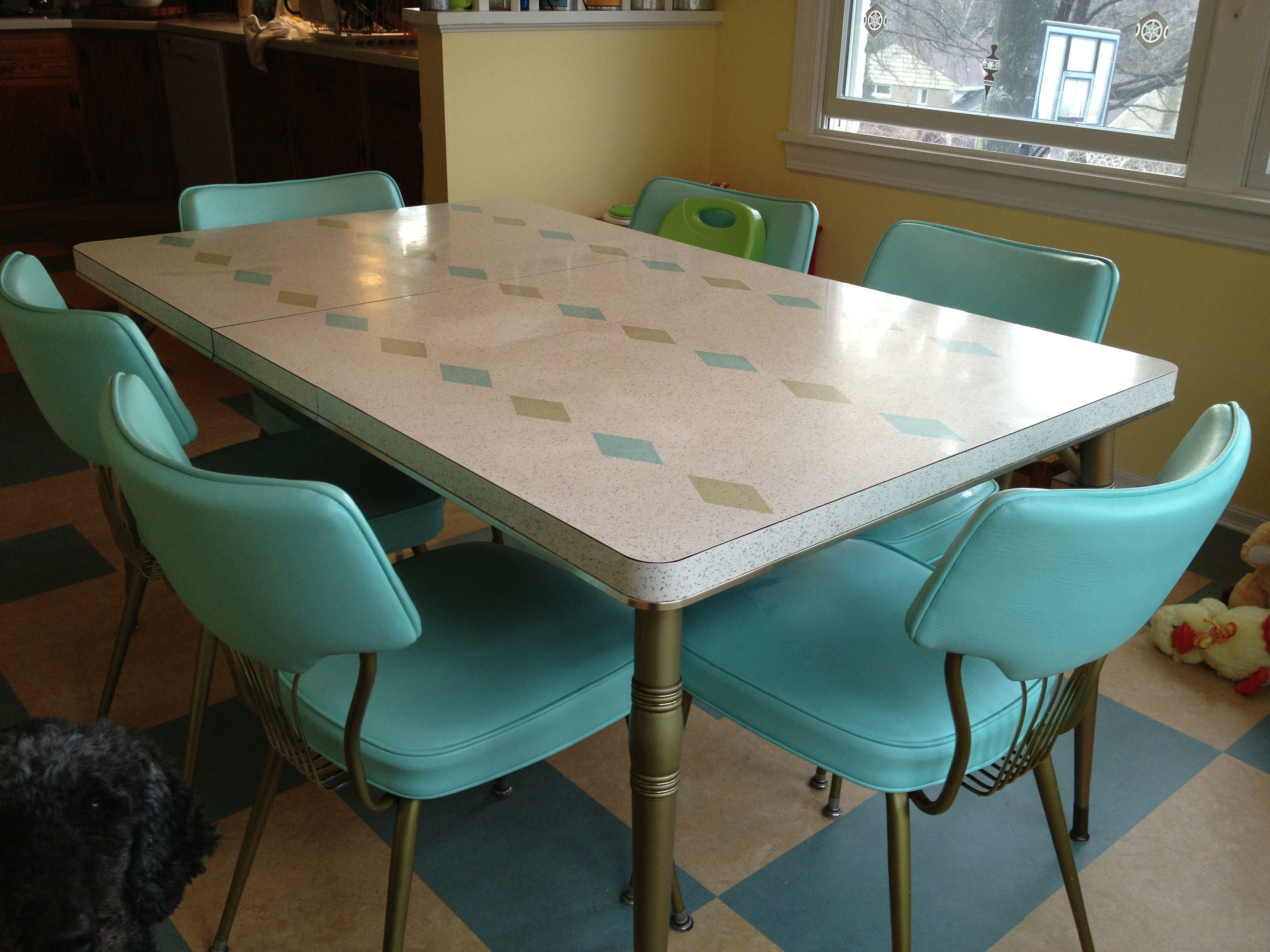 217 vintage dinette sets in reader kitchens turquoise for Teal kitchen table