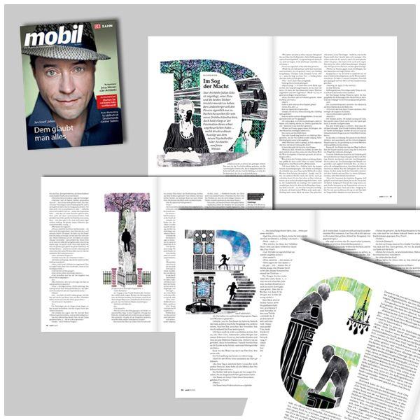 Deutsche Bahn /mobil 10/2012 - Book Review by Daniel Ramirez Perez. letters telling a story.