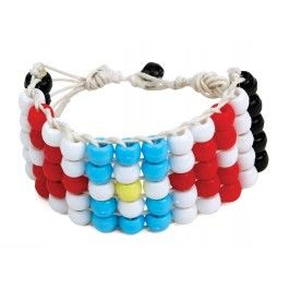 """Beat of the Drum (Elective): Pony Bead American Indian Bracelet (possible choice for """"make a craft"""")"""