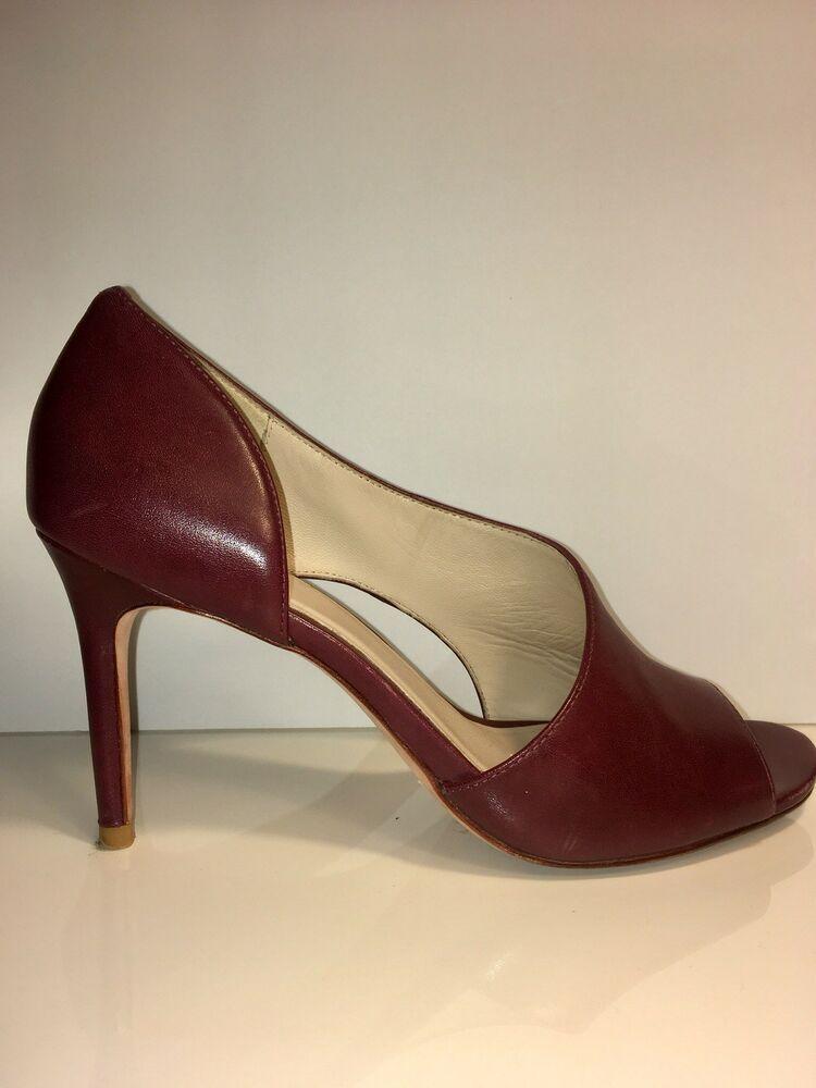 Cole Haan Viveca OT Pump Open-Toe Leather Heels