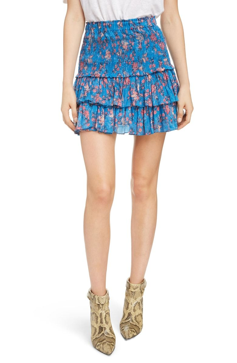91d6fa8a1480b Free shipping and returns on Isabel Marant Étoile Naomi Shirred Miniskirt  at Nordstrom.com. Effusive shirring textures the waistband of a flippant  little ...