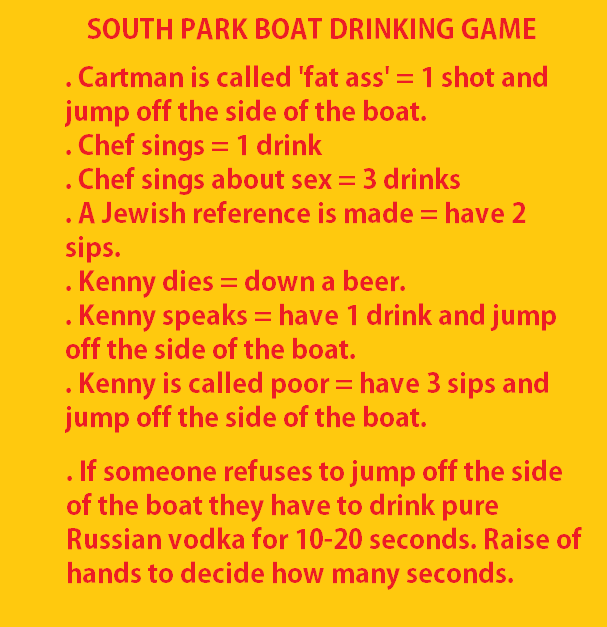 Image Result For South Park Drinking Game Drinking Games Drinking South Park