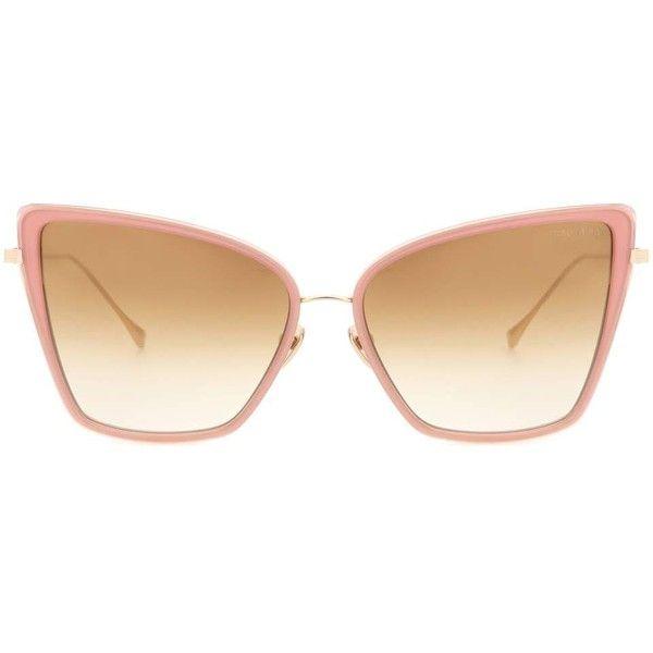 06937ffe02 Dita Eyewear Sunbird Cat-Eye Sunglasses found on Polyvore featuring  accessories, eyewear, sunglasses, pink, cat eye sunglasses, cat eye  sunnies, ...
