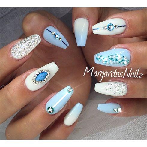 Cinderella Nails By Margaritanails From Nail Art Gallery Cinderella Nails Quinceanera Nails Swag Nails