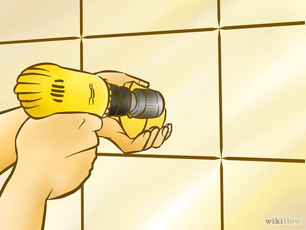 Drill Holes Through Porcelain Tiles Wikihow Drill Porcelain Tile Tile Bathroom