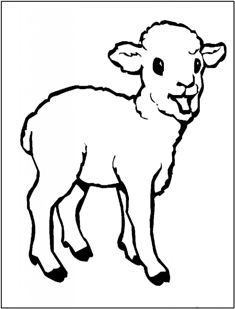 Free Printable Sheep Coloring Pages For Kids | Sunday school, Free ...