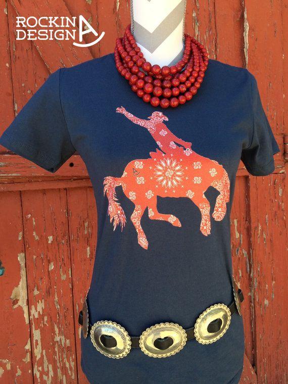 Junior/'s Rhinestone Save A Horse Ride A Cowboy V Neck Women/'s T Shirt Country