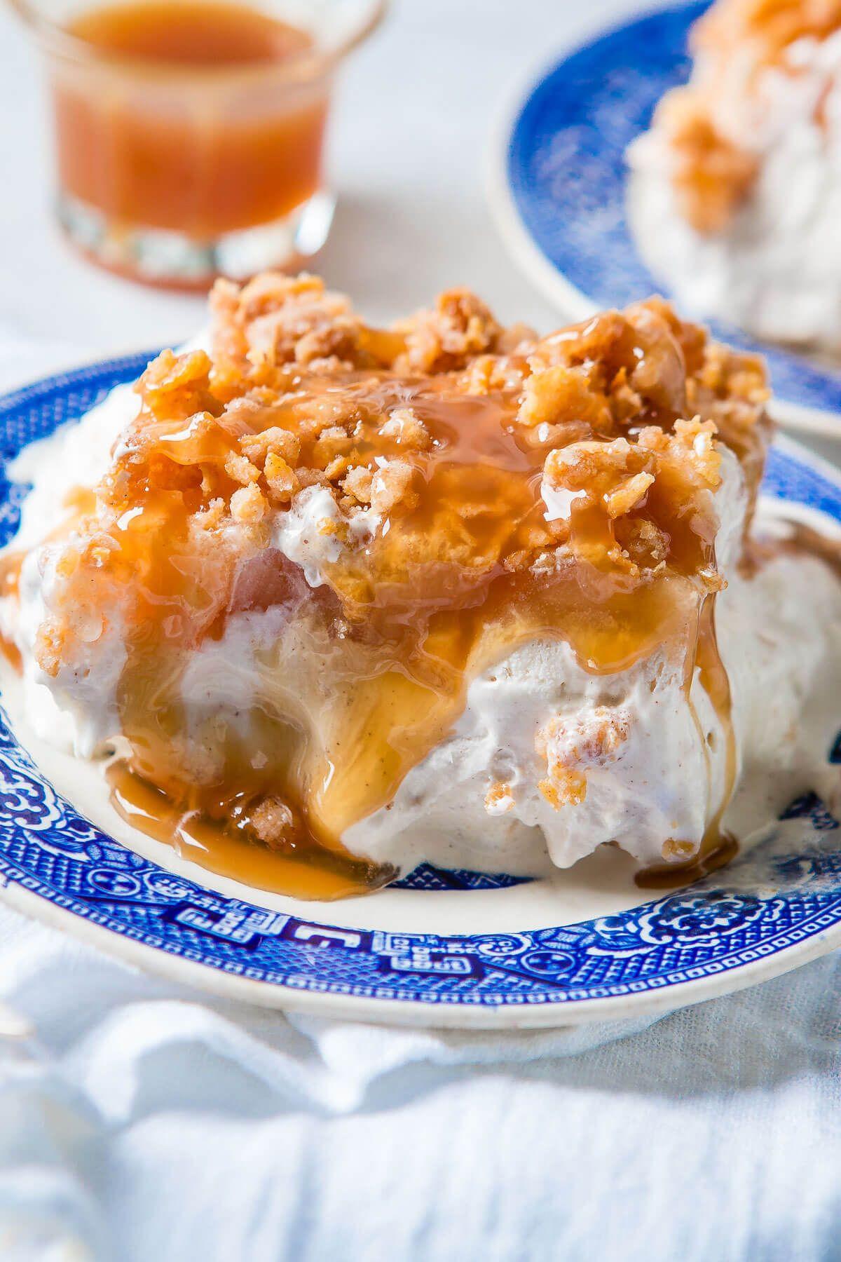 Apple Pie Fried Ice Cream Cake Recipe Fried ice cream
