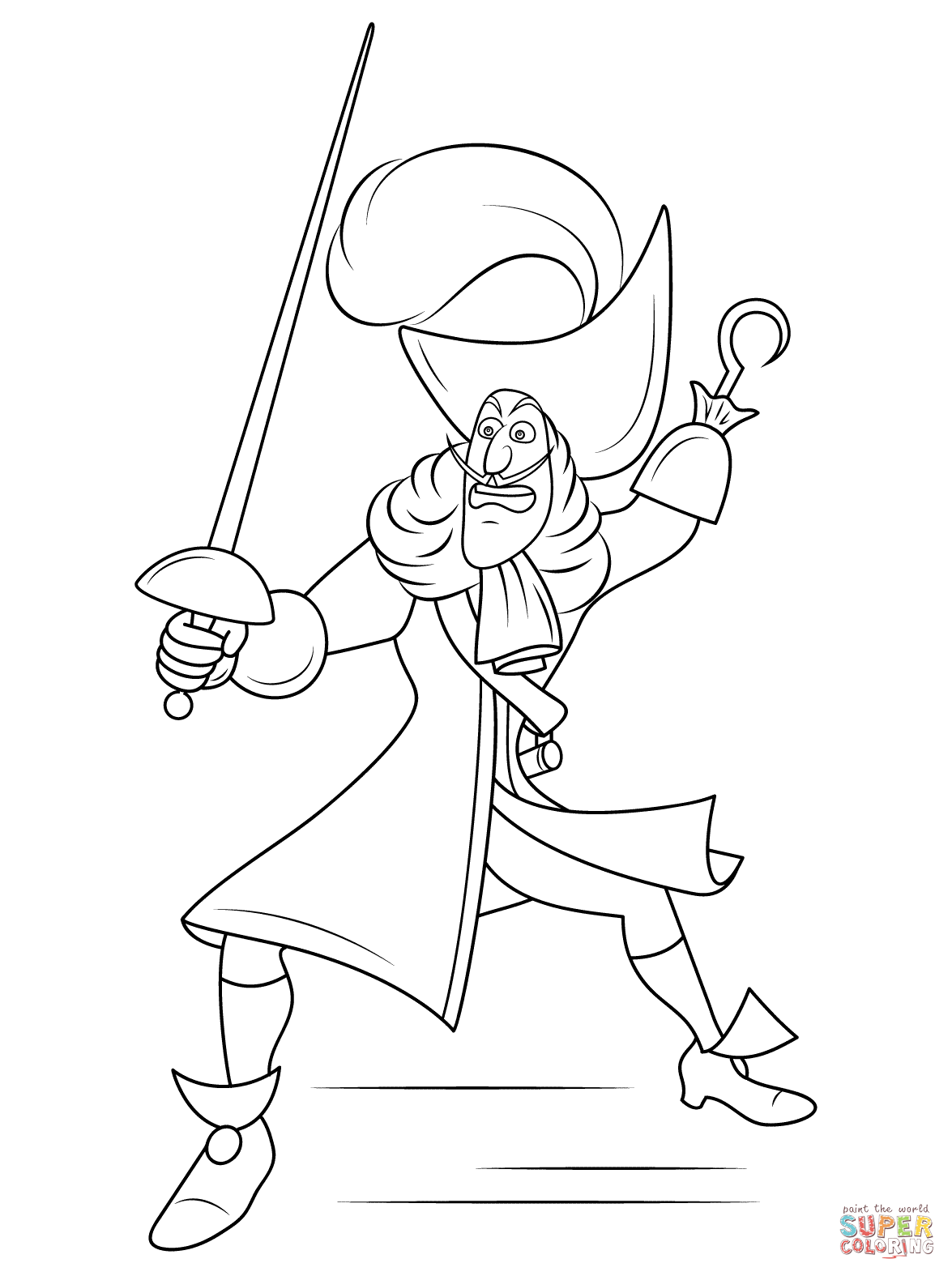 Captain Hook Coloring Pages Pirate Coloring Pages Coloring Pages Free Coloring Pages