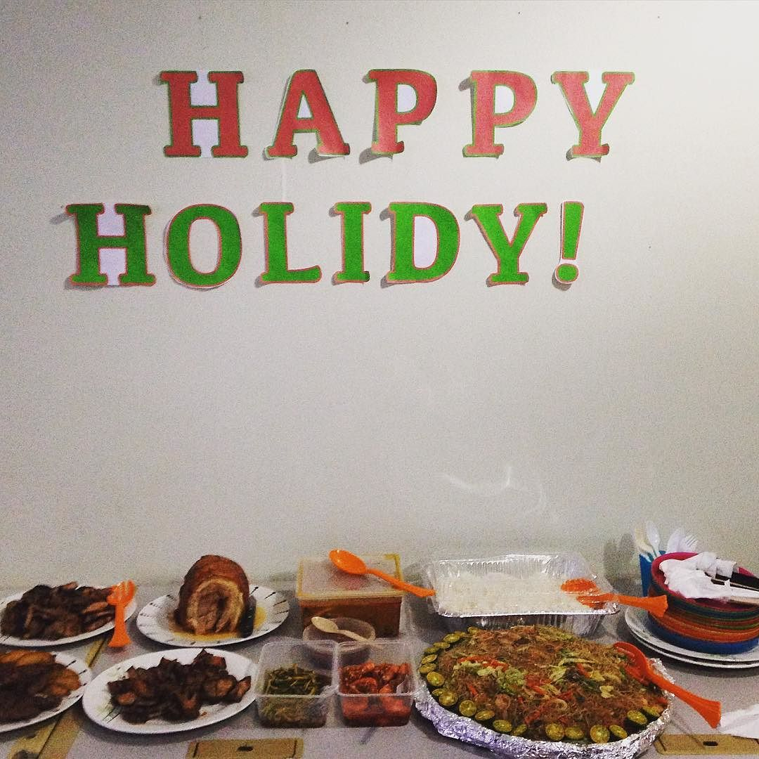 "We're already on holiday mode! ""Happy Holidy!"" from the Expat Philippines family! :) Haha!!! #HappyHolidy #ExpatPH"