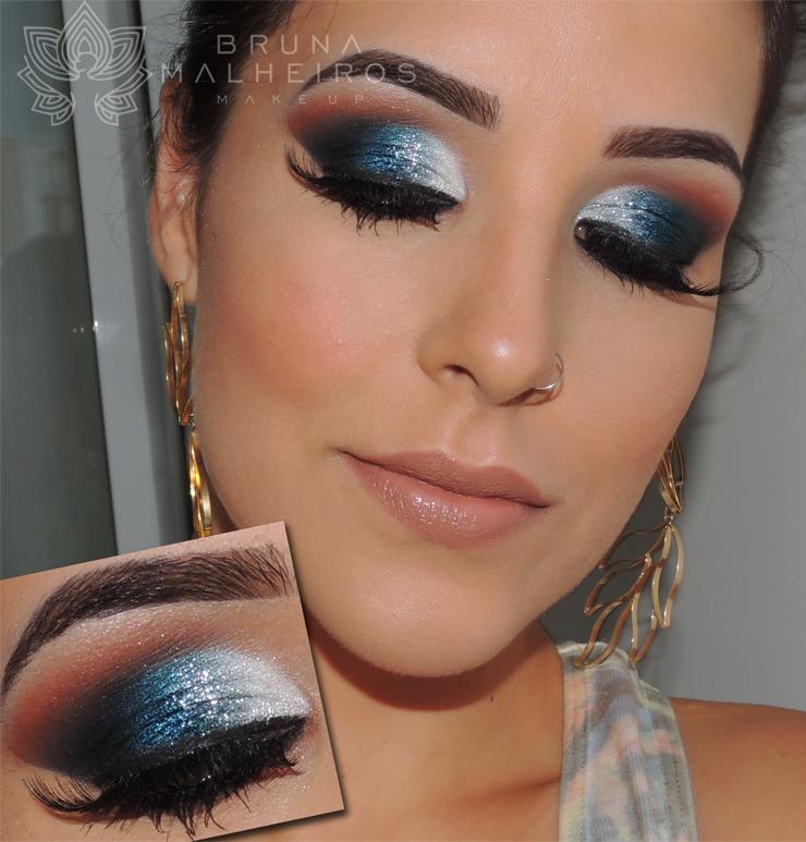 Maquiagem que combine com vestido azul petroleo