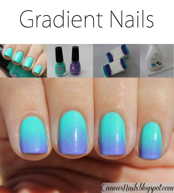 Canvas Nails: Gradient Nails + Tutorial | i\'m a fan of this nail ...