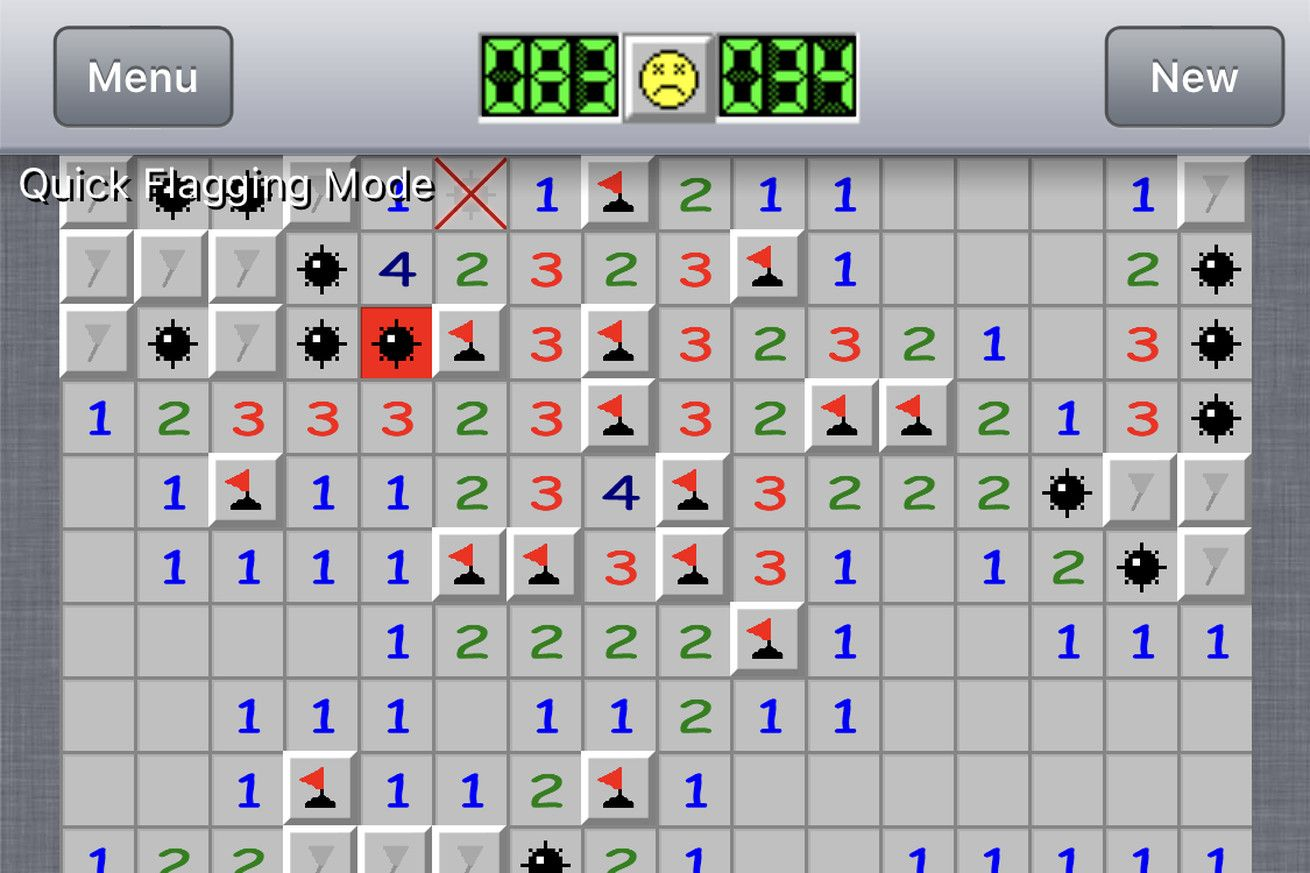 The only game I play on my phone is Minesweeper Games