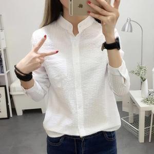 2364feed669 Women Blouses Shirt Female 2018 New Autumn Cotton Linen casual striped –  rricdress