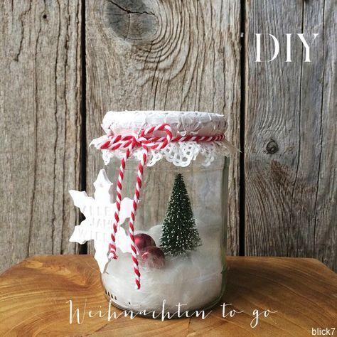 weihnachten im glas 5 minuten diy diy and crafts. Black Bedroom Furniture Sets. Home Design Ideas