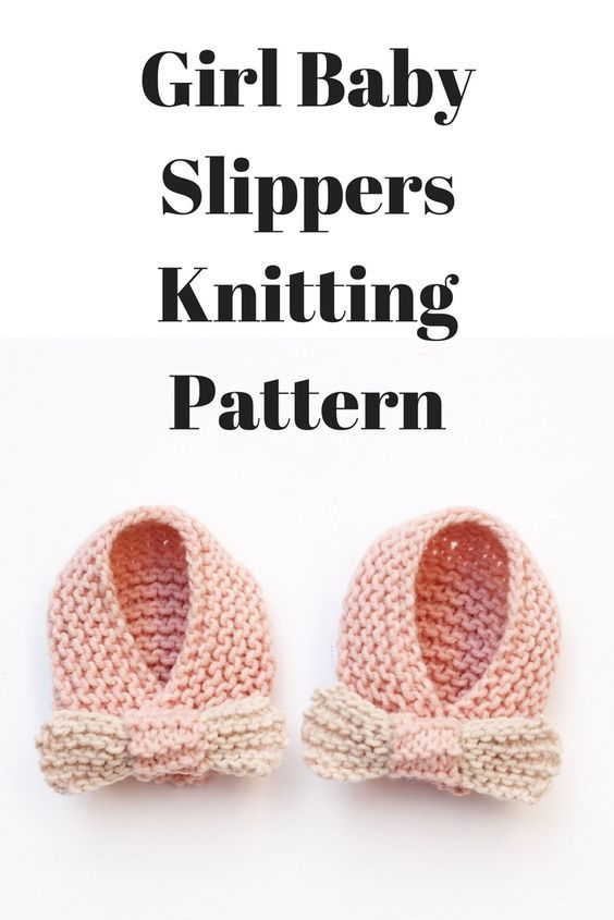 Photo of Baby Girl Slippers Knitting Pattern | Handy Little Me