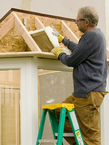 Fill framing with insulation   Bay window roof   Pinterest ...