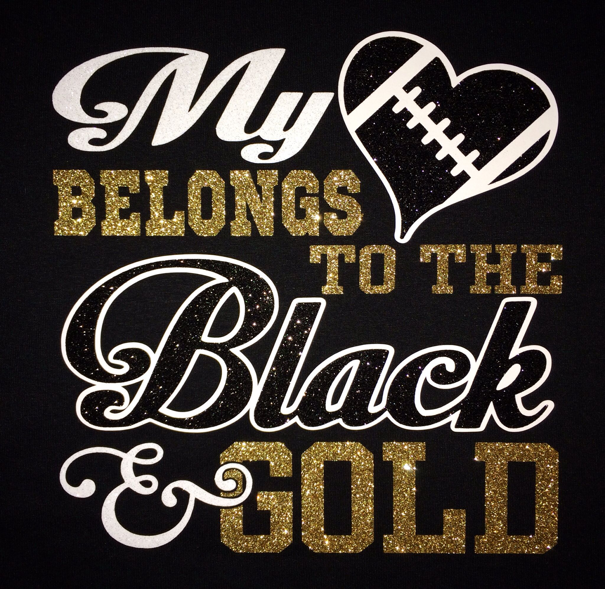 Black t shirt with gold design - Black And Gold