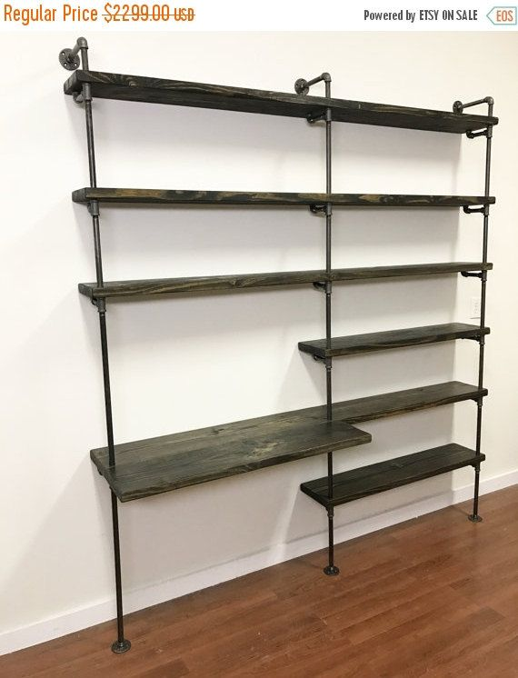 On Make Your Home Office More E Efficient With This Desk And Pipe Shelving Unit It Is A Truly Multi Functional