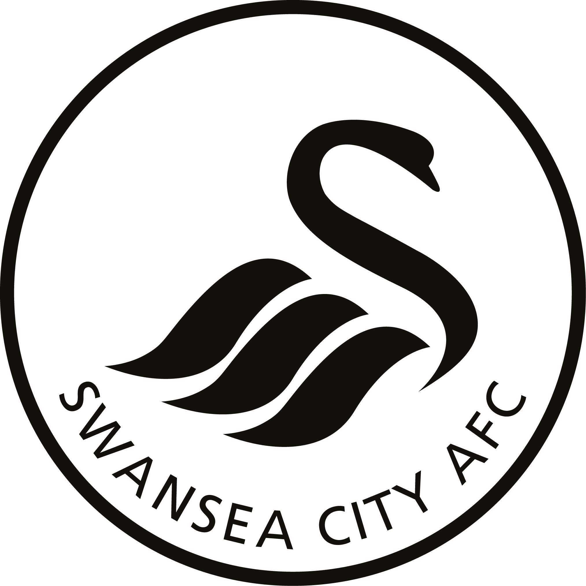 SWANSEA CITY AFC Official player shape pin badge