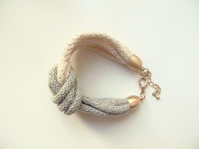 Diy knot bracelett fashion clothing jewelry strickliesel armband armband selber machen - Strickliesel selber machen ...