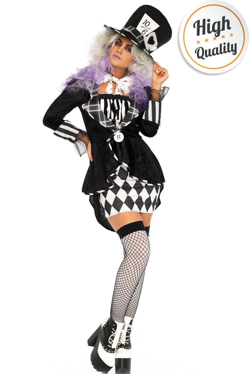 Halloween Sprookjes Kostuum.Halloween Mad Hatter Kostuum Voor Dames Carnavalskleding