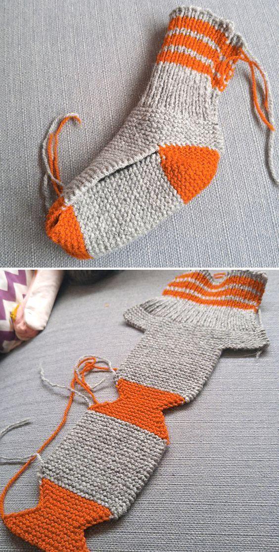 Two Needle Socks - Free Knitting Pattern #knitting Free Knitting Pattern - Welcome to Blog