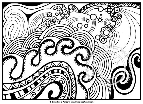 abstract coloring pages for adults printable dimensions of wonder - Printable Abstract Coloring Pages
