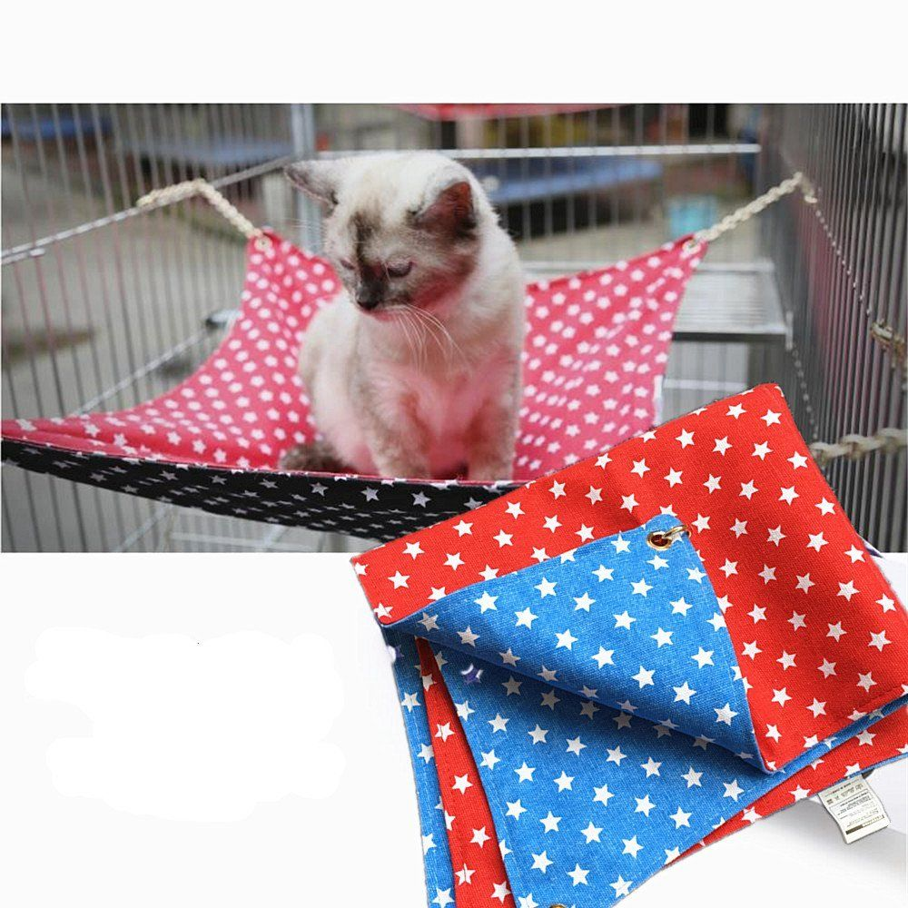 Fairwin Cat Hammock Bed Hanging Soft Canvas 17 X 22 Use With Crate Cage Or Chair For Kitten Ferret Puppy Leather Dog Leash Cat Hammock Dog Leash Training