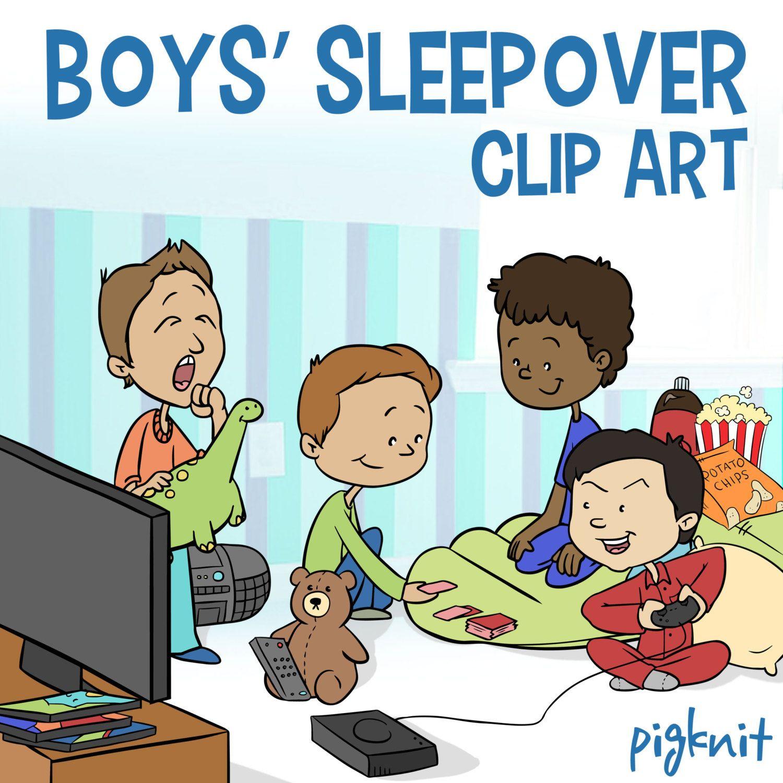 Boys Sleepover Clip Art, Slumber Party Clip Art, Classroom ... (1500 x 1500 Pixel)
