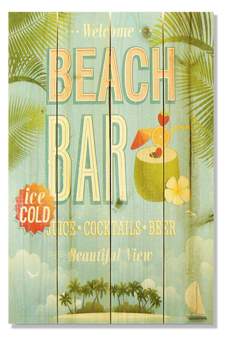 Gizaun Art Beach Bar Indoor/Outdoor Wall Art - WWBB1420   Outdoor ...