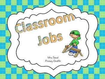 Job Cards available with basic descriptions or blank to meet your needs. Laminate cards and place in your pocket chart!