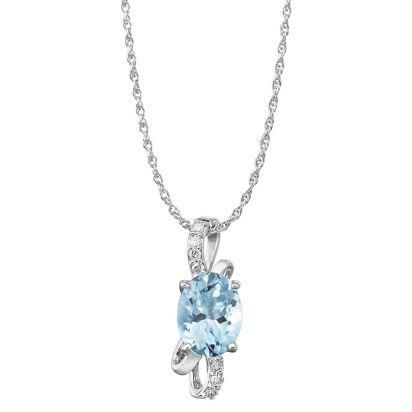 Aquamarine & diamond Pendant  #springvibes