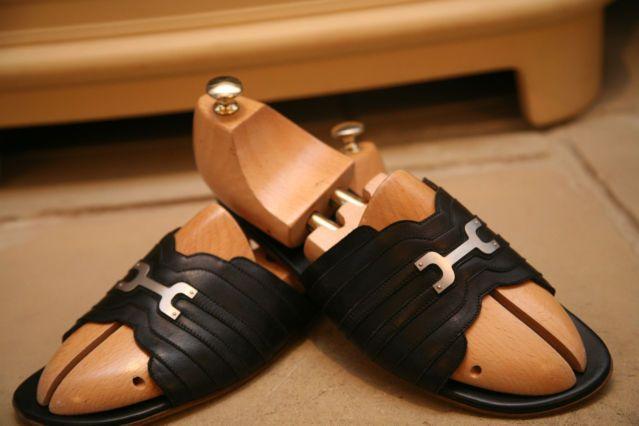 Sandals, Brown leather sandals, Hermes men