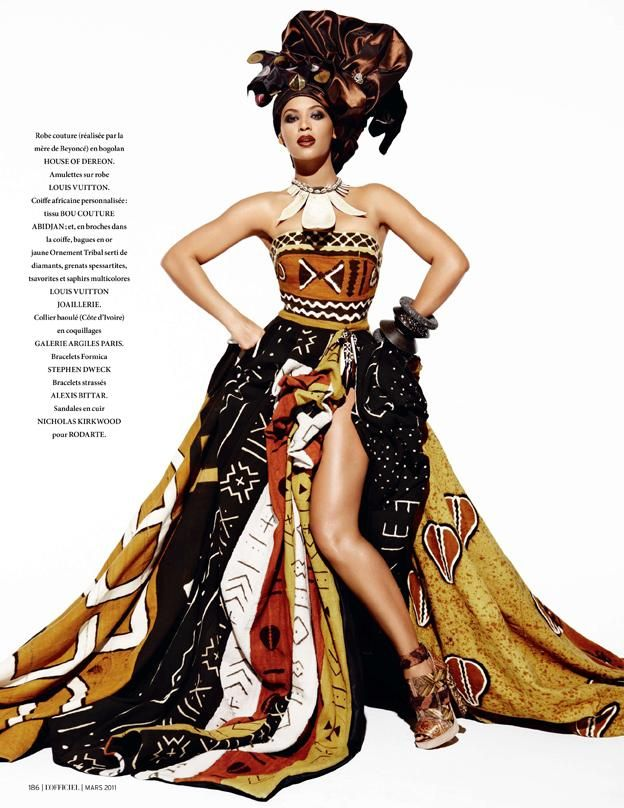 Beyonce African Queen By L 39 Officiel Fashion Editorials