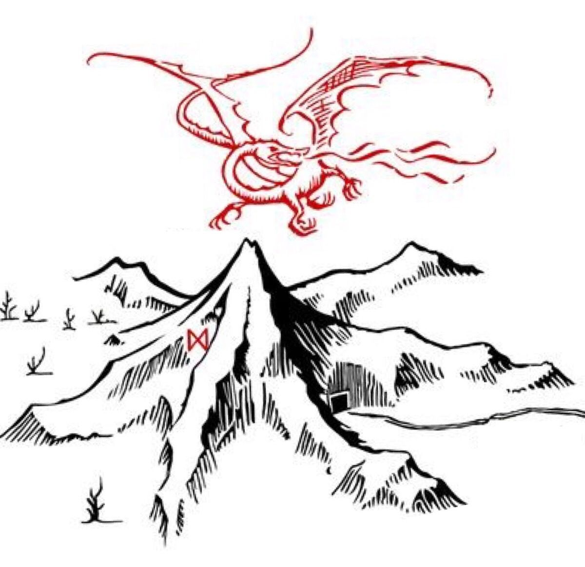 Image result for the lonely mountain drawing