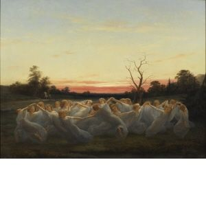 Nils Johan Olsson Blommér (Swedish, 1816 – 1853) - Fairies of the Meadow, 1850. Nationalmuseum (or National Museum of Fine Arts), Stockholm