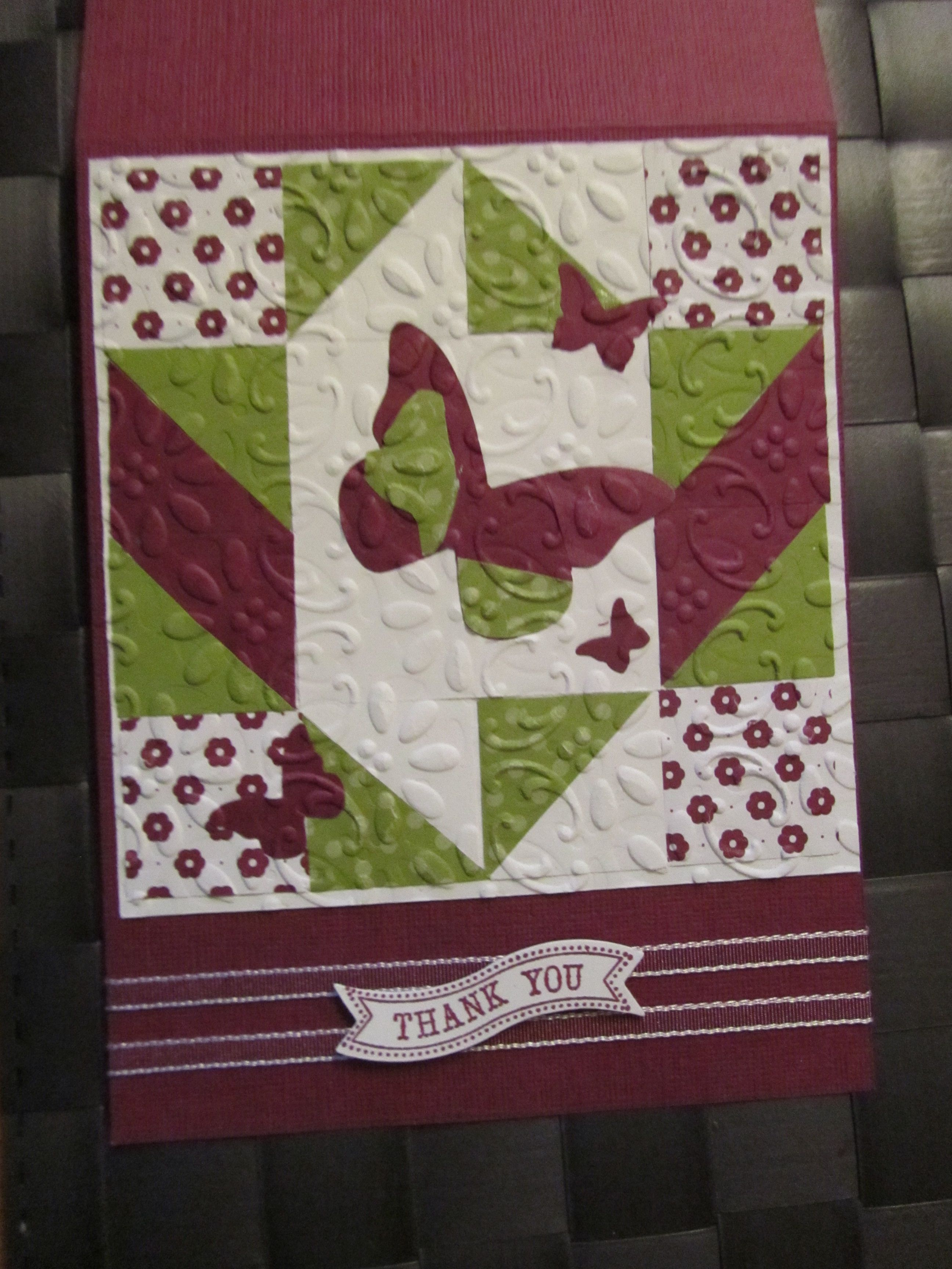 Faux Quilted Card