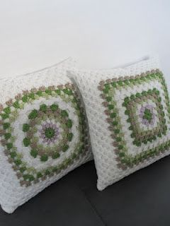 Granny square pillows
