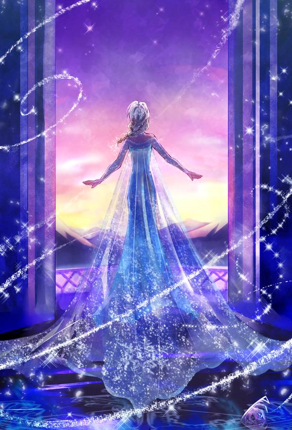 Elsa reine des neiges disney princesses dessin disney - Robe reine des glaces ...