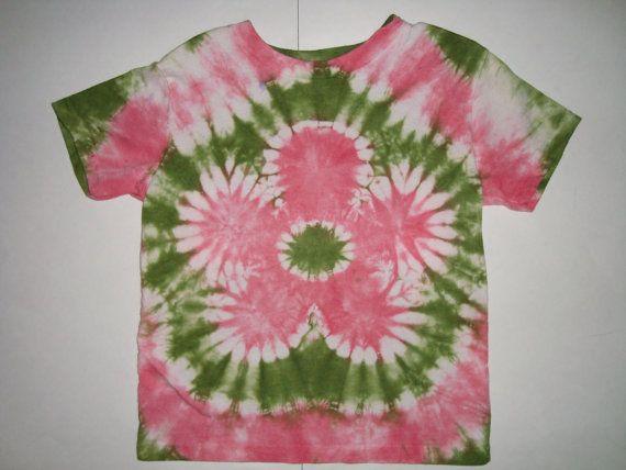 Childrens Tie Dye Flower Shirt By Halfpinttiedye On Etsy