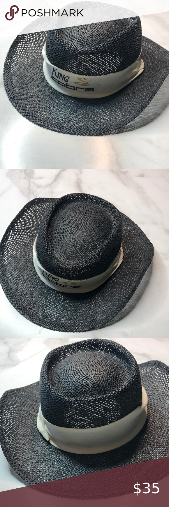 King Cobra Straw Hat L Xl King Cobra Straw Hat Size L Xl King Cobra Accessories Hats Straw Hat Hat Sizes Things To Sell