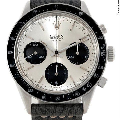 Rolex Cosmograph Daytona Vintage Stainless Steel Watch 6239